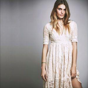 NWOT FreePeople V Neck Lace Dress 6
